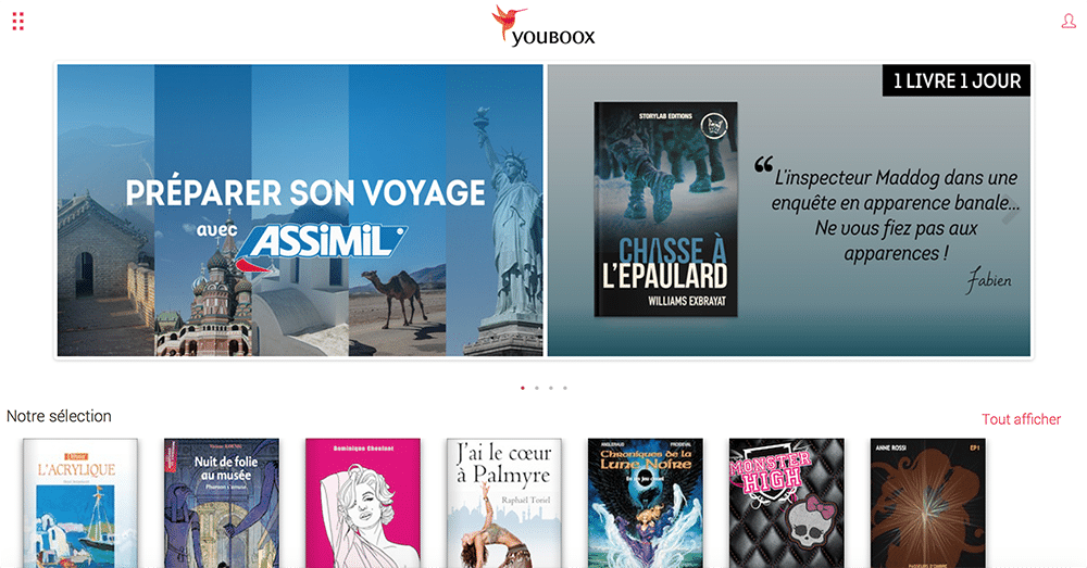 Assimil en streaming chez Youboox