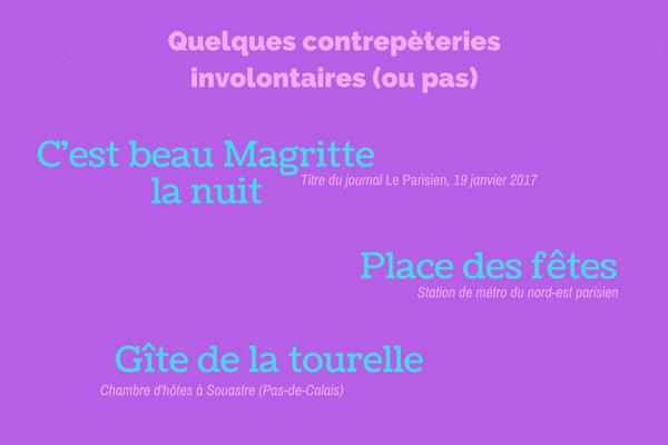 Les contrepèteries:  une spécialité française?