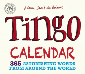 Front cover of the Tingo Calendar 2014