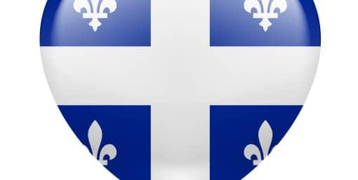 coeur aux couleurs du Québec