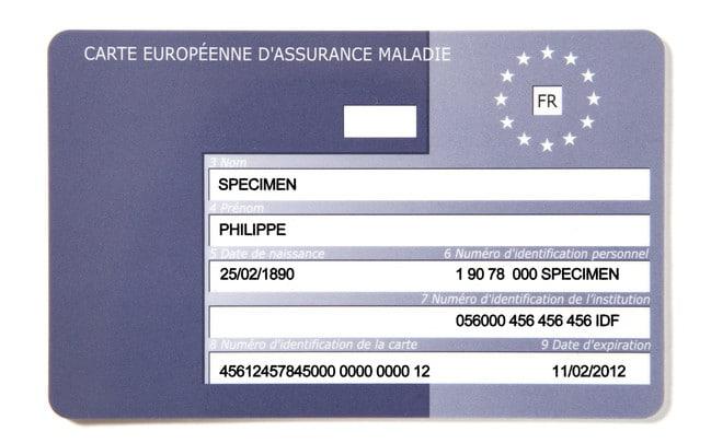 Carte Europenne d'assurance maladie
