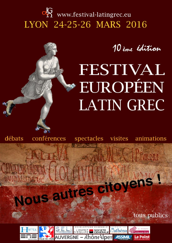 Affiche festival latin grec