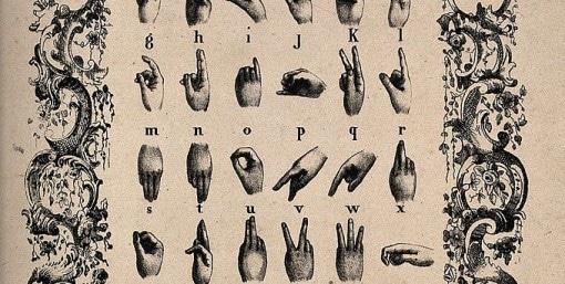 Table de la langue des signes française