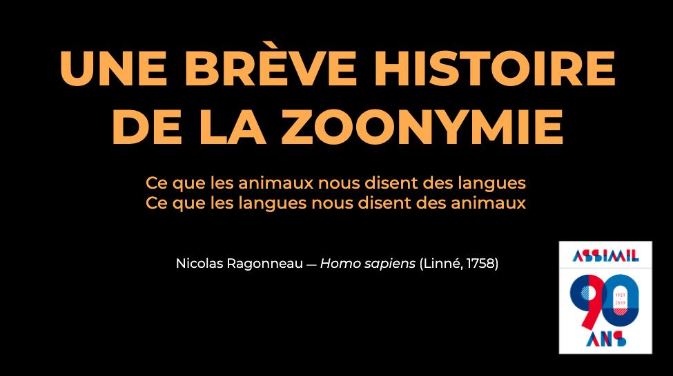Polyglot Conference 2019 : des animaux et des langues par Nicolas Ragonneau